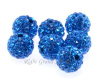 6mm 8mm 10mm Rhinestone Crystal Shamballa Bead For Bracelet
