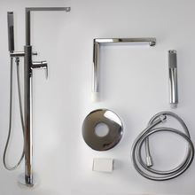 Aluminum Shower bath with waterfall & thermometer column