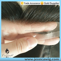 Full french lace India Human hair replacement systems for men