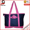 Nice Flower Large Embroidered Zipper Top Embroidered Beach Bag