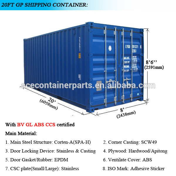 New 20ft 40ft overseas shipping container for sale in for 30 foot shipping container