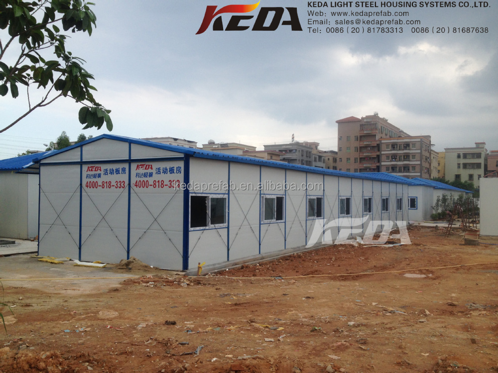 Fast Installation And Movable Sandwich Panel Prefabricated Houses Low Cost Labour Camp Accommodation
