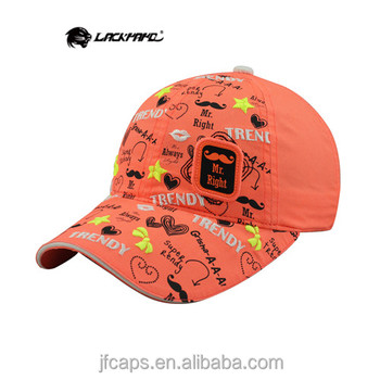 MR. RIGHT embroidery printing and applique new 2014 orange baseball and golf hats and caps