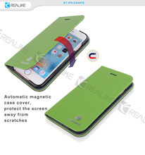 Magnetic leather case cover flip cell phone case for iphone 6 , for iphone 6 leather phone cover