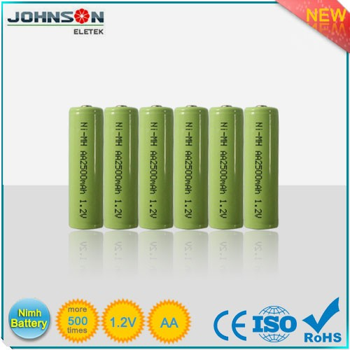 Factory price NiMH rechargeable battery 2500mAH 280h nimh button cell battery