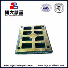 high manganese steel spare wear parts jaw plate for metso ore mining