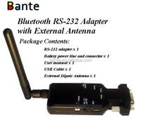 Black BT-232B-E Wireless 100M Bluetooth RS-232 adapter (with External Dipole Antenna) Bluetooth EDR, Class 1