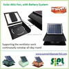 Solar vent fan dc home appliances DC motor solar powered roof ventilation fan
