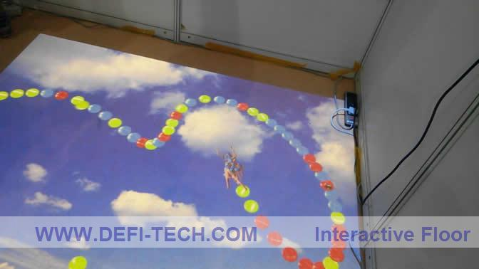 Interactive game interactive floor/wall projection software game software