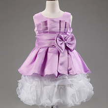 New Year Children Dress Models Baby Dress Cutting Modern Polyester Fabric Layered Tutu Girls Party Dresses