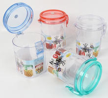 BPA free wholesale plastic airtight coffee canister