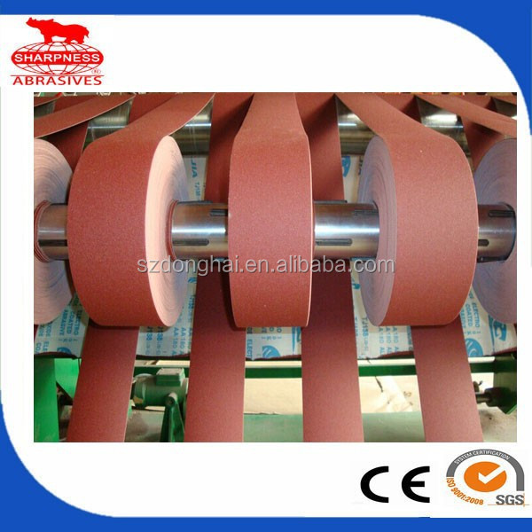 HD248 aluminum oxide sanding belts for sander machine