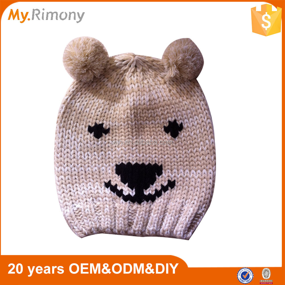 Fashion Cartoon Kids Knitted Hat And Cap Beanie Cap Cheap Price