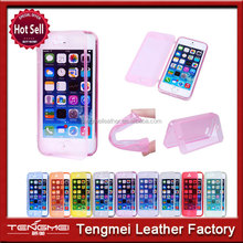 Fashion Soft TPU Silicone Transparent Clear Flip Case Cover For iPhone 5 5S 5C