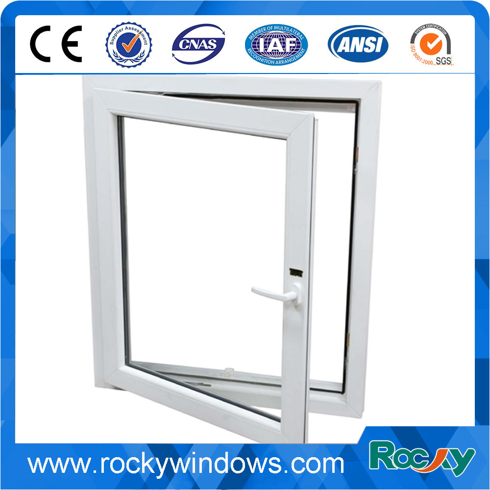 French Style Upvc casement window with Crank and Grills