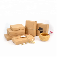 High Quality Custom kraft paper cardboard gift boxes with clear window