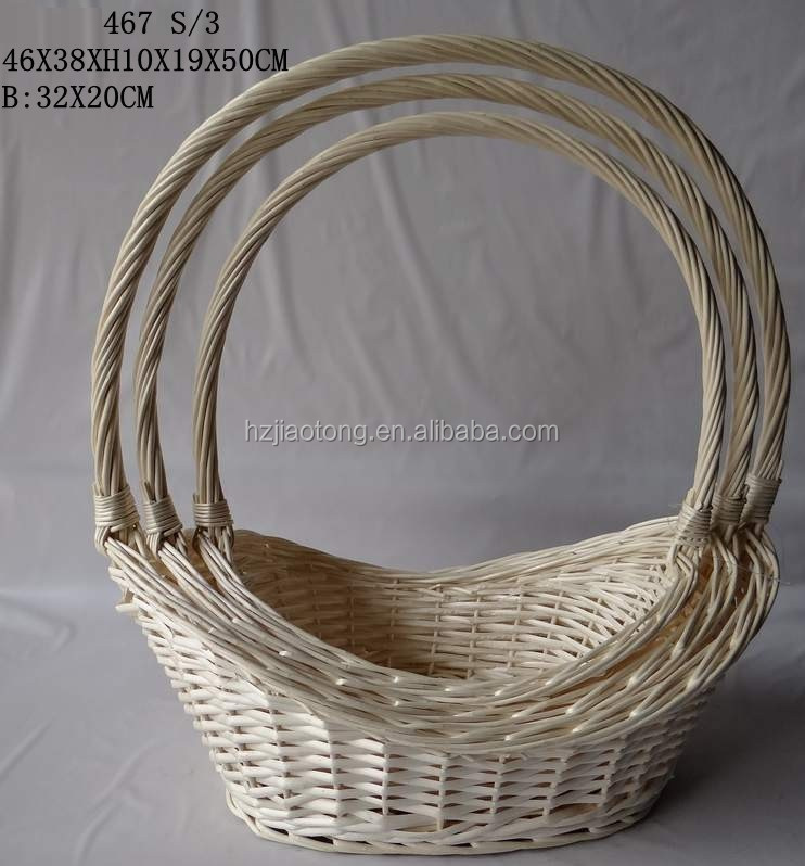 High quality white willow craft wedding baskets