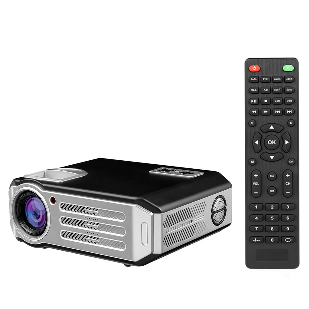 LCD Projector 1080P LED Projector Beamer 3200 Lumens 1500:1 Contrast Ratio HD / USB / VGA / AV for Home Theater Business