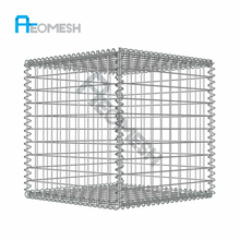 welded galvanized square hole gabion basket