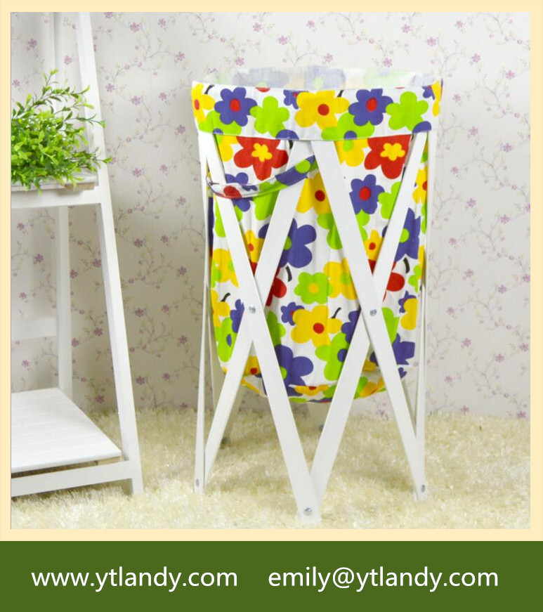 Collipsible Pop Up Washing Canvas Laundry Dirty Basket Bag