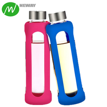 Removable Glass Water Bottle Silicone Sleeves
