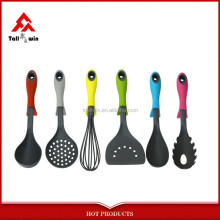 Popular design nylon camping cooking utensils set kitchen plastic ware