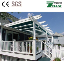 Decorative beautiful PVC pergola with CE certificate
