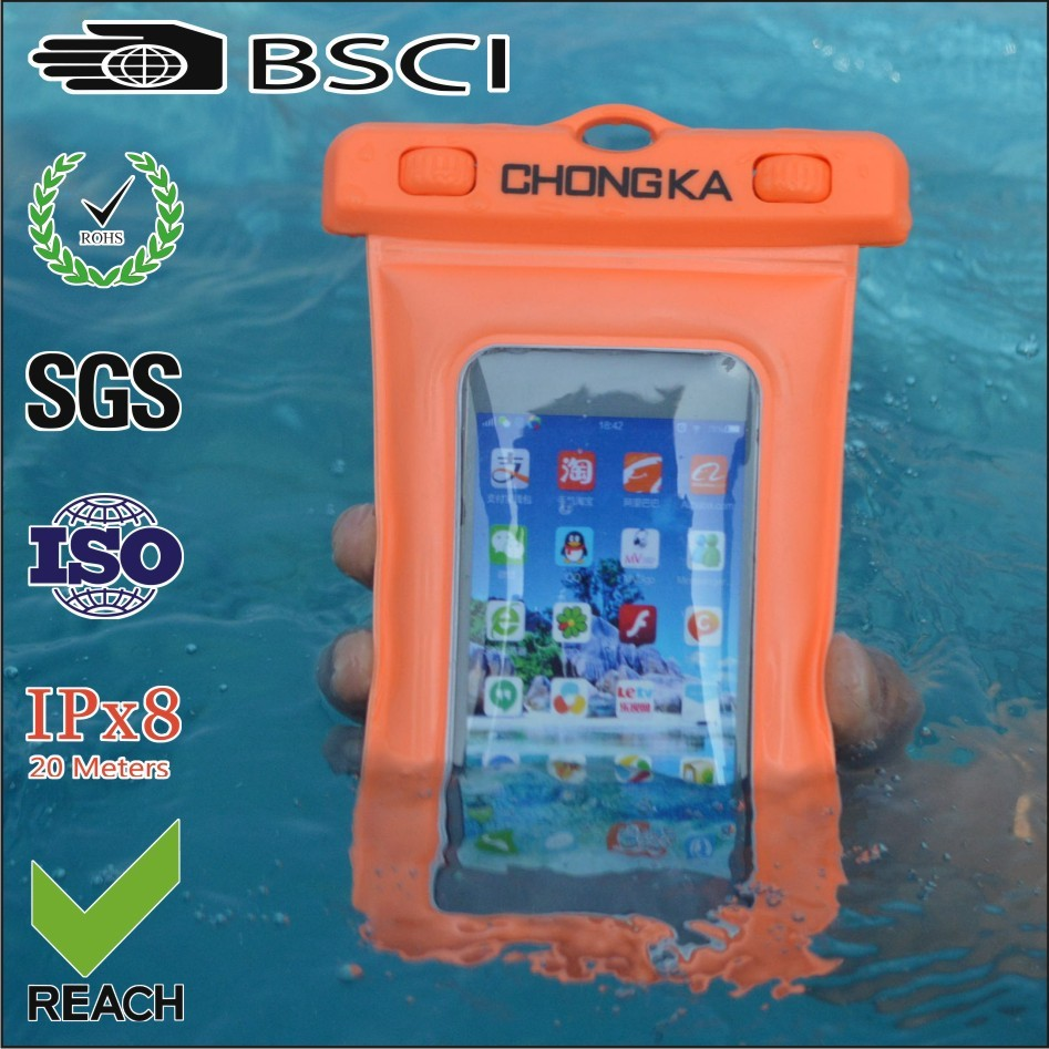 2016 clear pvc waterproof cellphone cover for Apple iphone 5