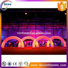 Air blown inflatable entrance arch gate