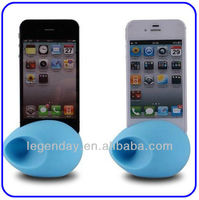 For Iphone Egg Shape Silicone Horn Stand Speaker