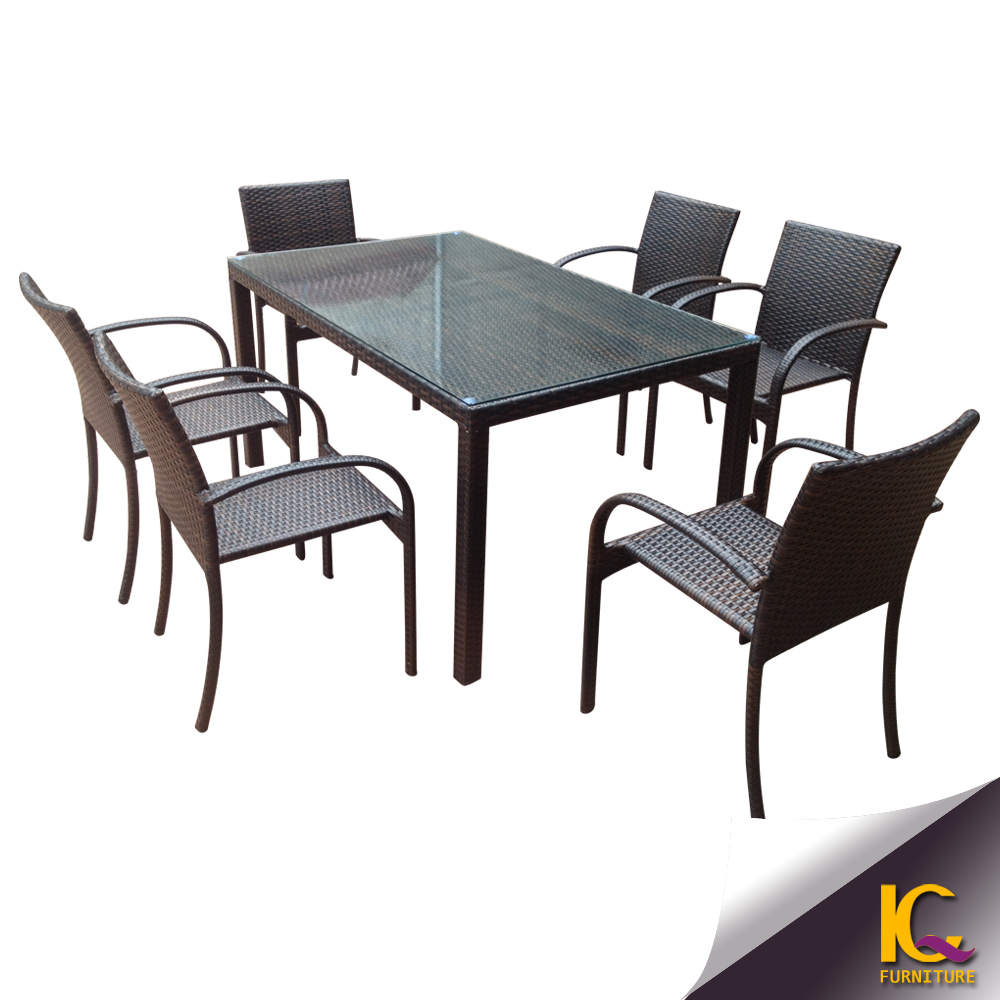 Black Glass Table With Six Chairs Dining Set Cast Aluminum  : Black glass table with six chairs dining from www.alibaba.com size 1000 x 1000 png 611kB