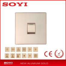 New aluminum panel 1 gang 1 way/2 way <strong>switch</strong> for Pakistan or Bangladesh market