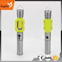 new rechargeable led flashlight with side light 3W COB + 3W bulb and red light