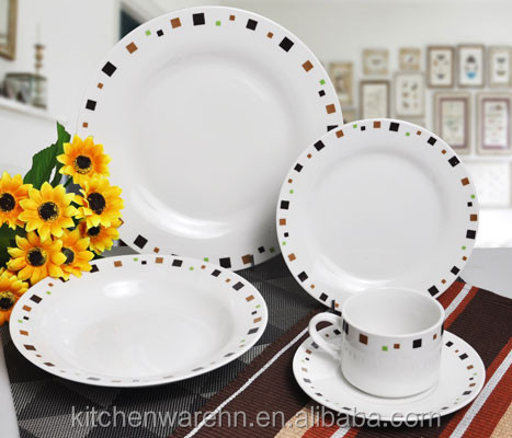 Haonai 20,30 piece stoneware dinnerware set with customized design service of 5 for south american market