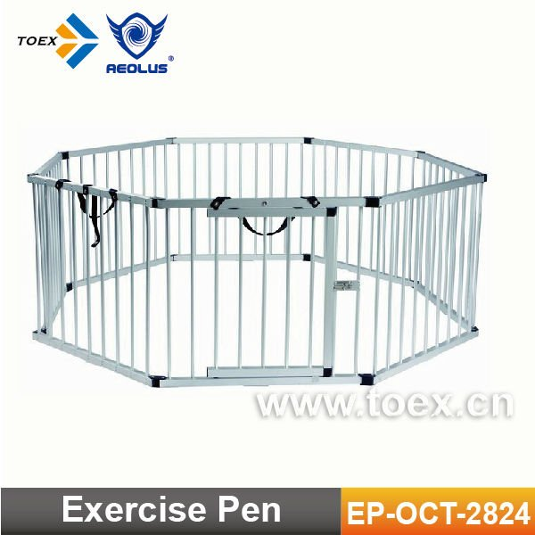 EP-OCT-2824 China factory supplied Aluminum Dog Exercise Pen cheap dog play pen