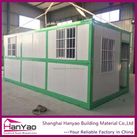 Shanghai HanYao New Design Cheap Price Flat Pack Folding Container House for Living/