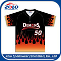 2015 China Custom Made Dye Sublimation Printing Baseball Jerseys