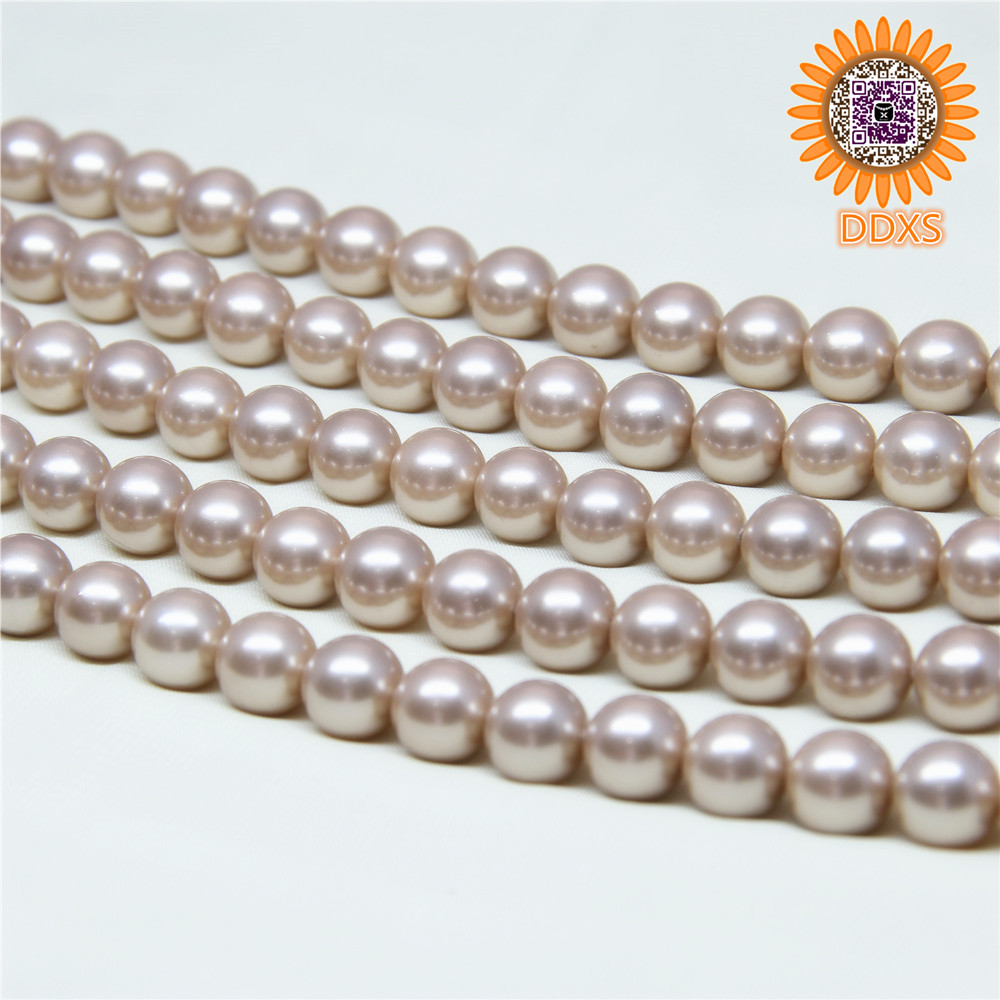 ODM/OEM nice luster variety colors loose natural shell pearl strand