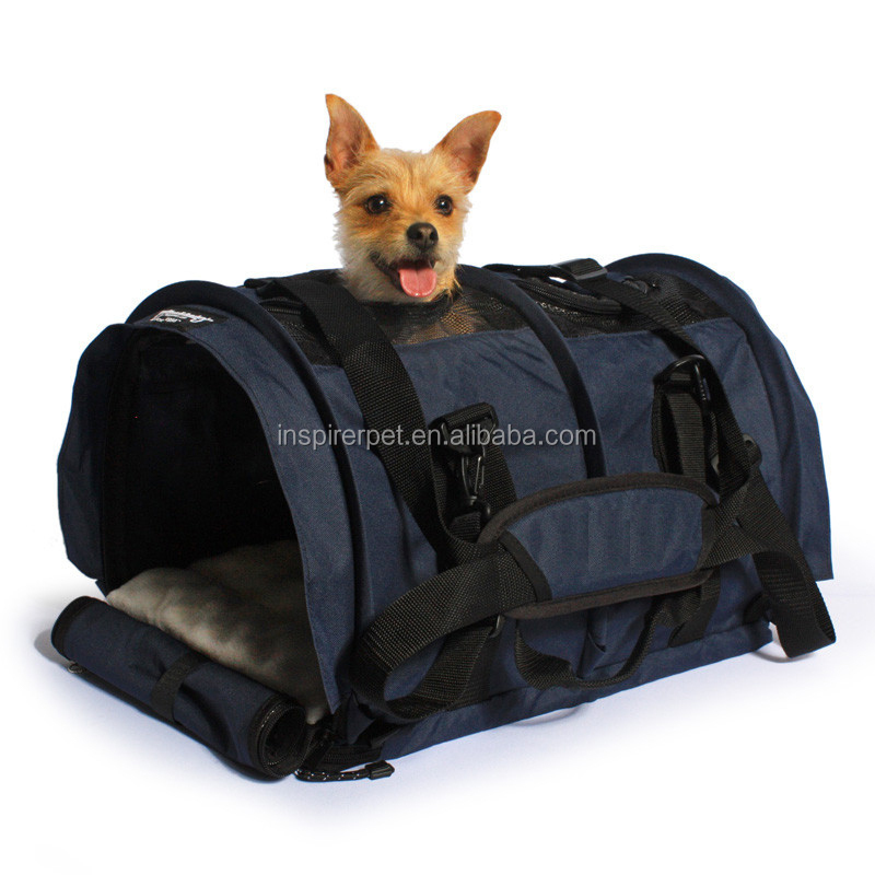 Flexible Height Pet Carriers Airline Approved Professional Tote Cloth Dog Carrier