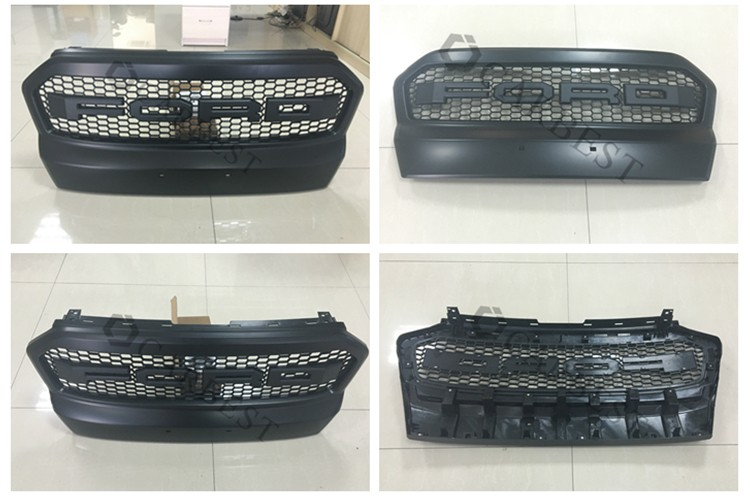 High Quality New 2016 Car Plastic Front Grill for 2015 Ford Front Bumper Grille