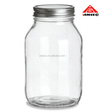 Food Grade 32 oz Glass Canning Jar with Metal Lid For Sale