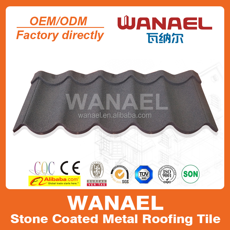 50 Years Guarantee Colorful Stone Coated Metal Roofing Tiles Distributor