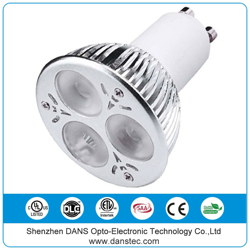 UL(E481495) DLC ETL(5004879) SAA CE ROHS High power led 6w gu10 spotlight 2700k