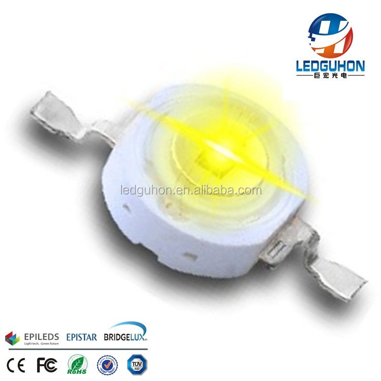 Yellow led chip 38mil High Power 1W Yellow LED with Star PCB
