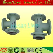 SGS Qualified Casting or Seamless Steel Rubber Lining T Pipe Connector