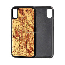 Accept Custom Carved Full Real Wooden Cell Phone Case For iPhone 7, Soft TPU PC phone case for Iphone 8
