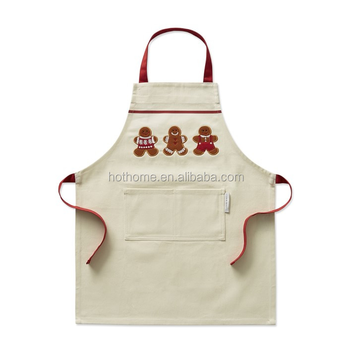 Exquisite embroidery aprons retro country style diy bear