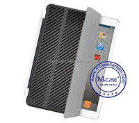 Low MOQ Good Selling Smart Carbon Fiber Case Cover For Apple iPad 2 3 4