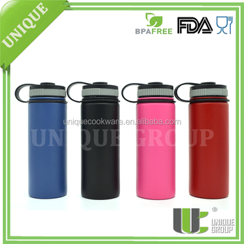 Unique Group Color Hydro Flask 18 oz Wide Mouth Insulated Powder Coating Stainless Steel Insulated Bottles