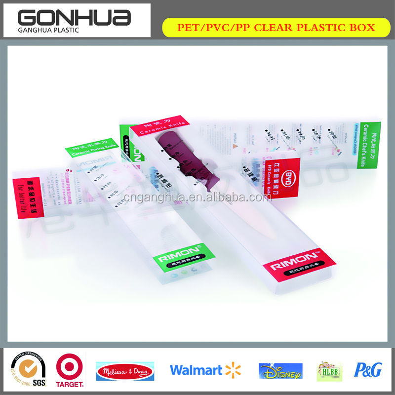 New product ceramic knife PP plastic packaging box
